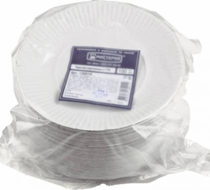 Тарелка одноразовая (картон)